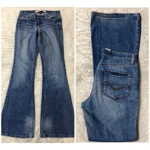 Mossimo flare jeans.